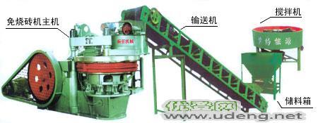 新亚免烧压砖机设备新型建材理想设备w