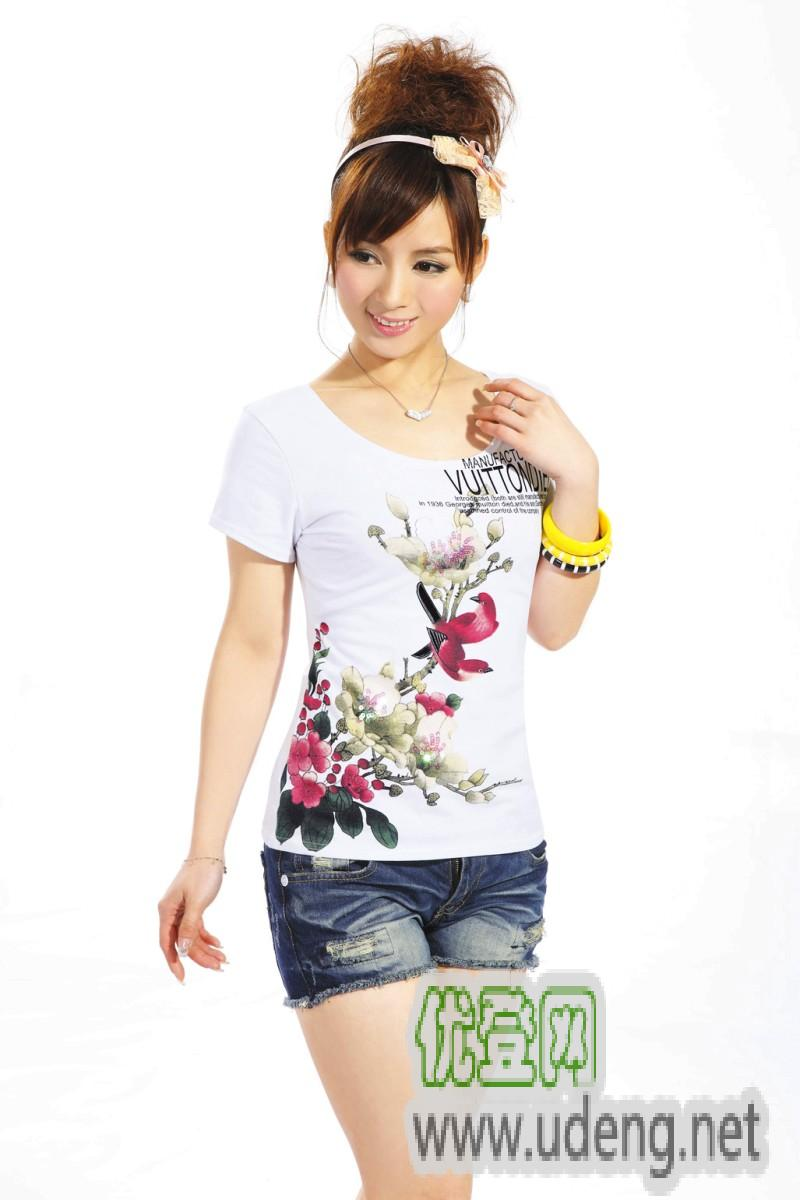 女装 流行女装 夏装 短袖 t恤 连衣裙